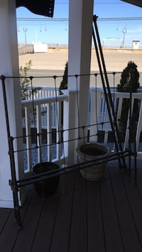 Antique Iron bed with slats