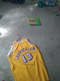 yellow Chamberlain 13 basketball jersey Laurel, 20708