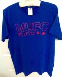 Manchester United FC Red Devils Adidas Tshirt Size Medium London