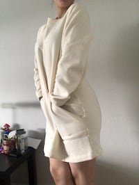 Comfy cream sweater dress Toronto, M9W 1W1