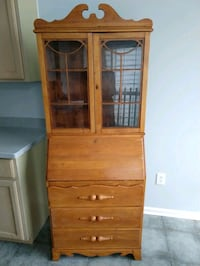 DISCOUNTED Pine Secretary Desk with Hutch