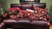 Maroon leather two three seater one single seater Brampton, L6S 5Z3