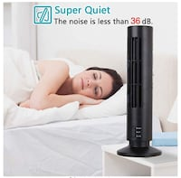 Naqifu USB Tower Fan 2Speed Portable Bladeless Cooling Air Conditioner