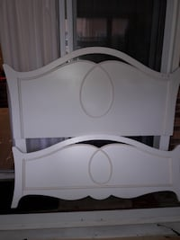 white wooden bed headboard and footboard Centreville, 20120