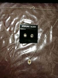Natural Citrine with Diamond Accents .925 Sterling Unionville, 22567