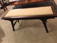 Mid century modern style bench with memory foam seat 3754 km