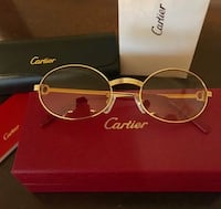 Unisex Gold Frame Cartier Glasses ! Excellent! W box / booklet ! Silver Spring, 20903