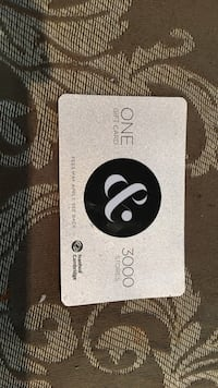 100$ mall gift card