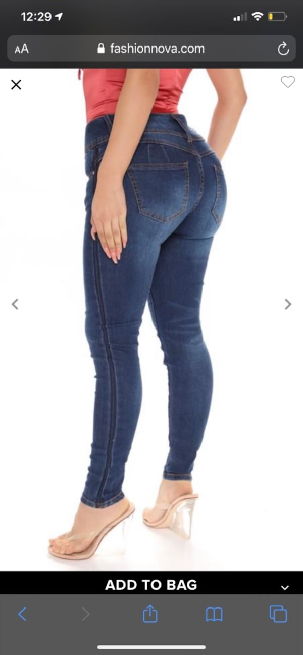 Fashion nova booty lifting jeans size 11 0