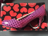 pink black checker heels with box Portland, 97236