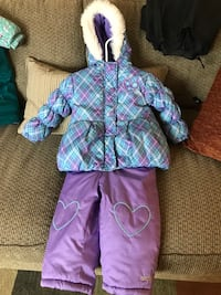 Girl's purple. white, and pink zip-up jacket with purple pants Denver, 80222
