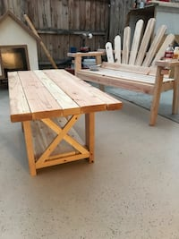 Patio bench & table.