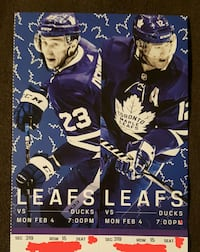 Leafs vs Anaheim Ducks tickets - Mon Feb 4 Toronto, M5B 2L7