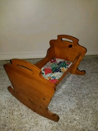 brown wooden rocking chair and table Cleveland