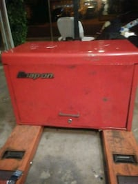 red and black Snap-on tool chest Murrieta, 92562