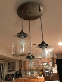 West Elm 3-Lantern ceiling light 15 km