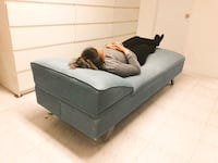 Vintage Denim Chaise/recliner