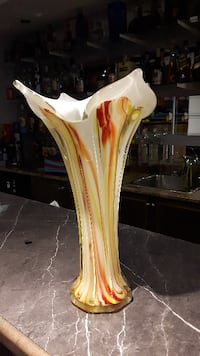 Hand blown glass vase Brampton