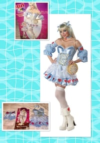 "REBEL TOONS * brand ""ROCK N' FAIRYTALES DELUXE ALICE!"" Women's costume size MEDIUM- NEW!  Carrollton, 75007"