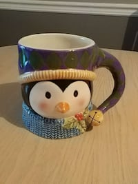 Susan Winget holiday Penguin Mug Vaughan