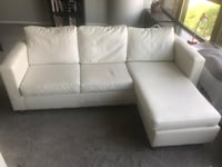 White leather sectional sofa Chicago, 60611