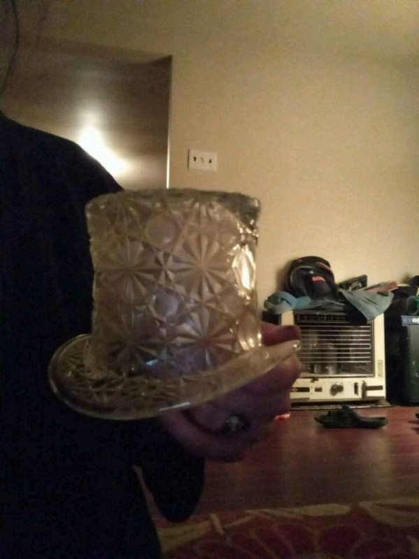 d6f1592c12709 Used Glass Vintage top hat for sale in Thomasville - letgo