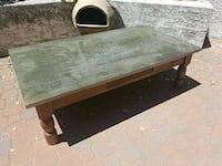 Coffee table - wood with metal top Grover Beach, 93433
