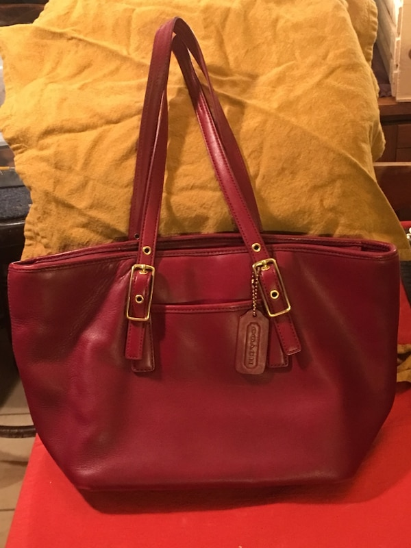 6e8cf33bd5a1 Used Authentic COACH Red Leather Hampton Handbag D23-9847 in excellent  condition! for sale in Clemson - letgo