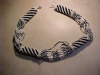 Seed Bead Thick Necklace Native American.
