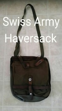 Vintage Swiss army haversack, multiple uses!