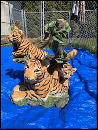 Tiger End Tables or Bed Stands