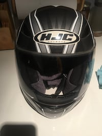 Black and gray hjc full-face helmet extra small  Columbia, 21045