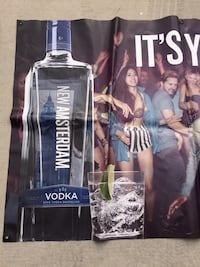 New amsterdam vodka Banner. Good for Man Cave/ Bar
