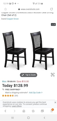 Black dining chair new