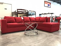 red and black sectional couch Lake Worth, 33461