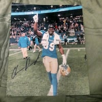 Clarence Denmark signed Blue Bombers photo