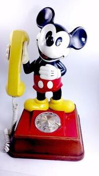 Vintage Micky Mouse Rotary Phone Williamsville