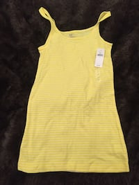 yellow and white stripe tank top Chicago, 60614