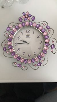 pink and purple floral analog wall clock Springfield, 22150