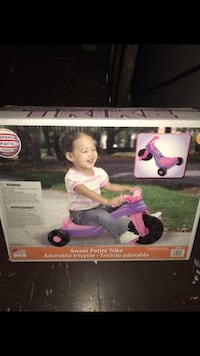 toddler's pink and purple Sweet pie trike box