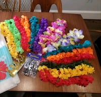 Hawaiian party accessories, Luau, Lei, Beach, neck