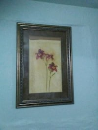 brown wooden framed painting of pink flowers Bakersfield, 93307