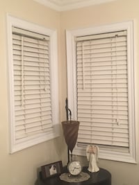 Wooden window blinds white various sizes sold each