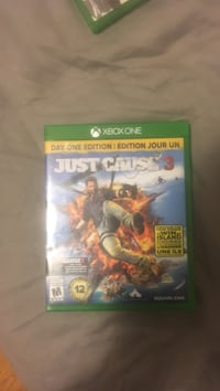 Xbox One Just Cause 3 game case