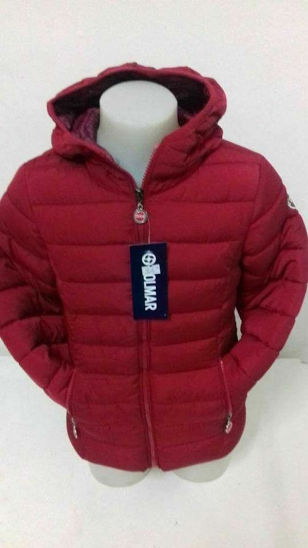 giacca con zip-up rosso a trampolino