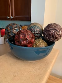 Decorative bowl with colorful orbs Brentwood