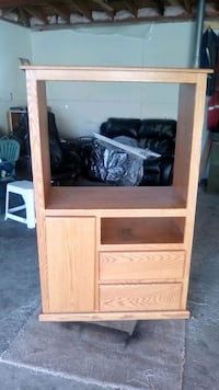 brown wooden cabinet with shelf Edmonton, T5J