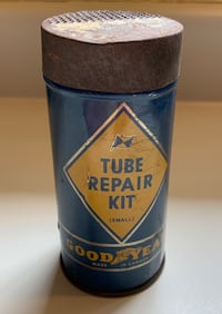 Vintage Tube Repair Can with Some Original Content