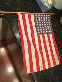 flag of America with brown pole Des Moines, 98198
