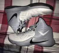 Men's NIKE SIZE 12 WOLF GREY ZOOM HYPERFUSE GOOD CONDITION BASKETBALL SHOES Ypsilanti, 48197